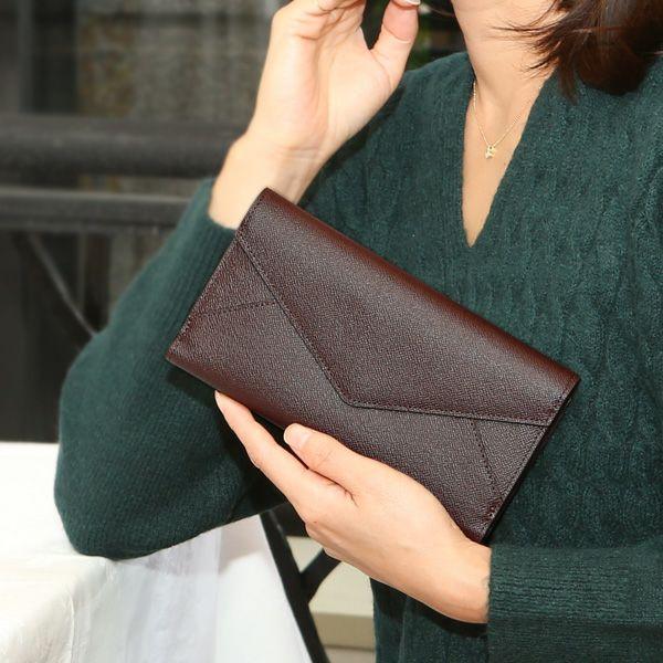 使いやすいかぶせ蓋(ふた)長財布「傳濱野(でんはまの)Gloria Francoise(グローリア フランソワーズ)」